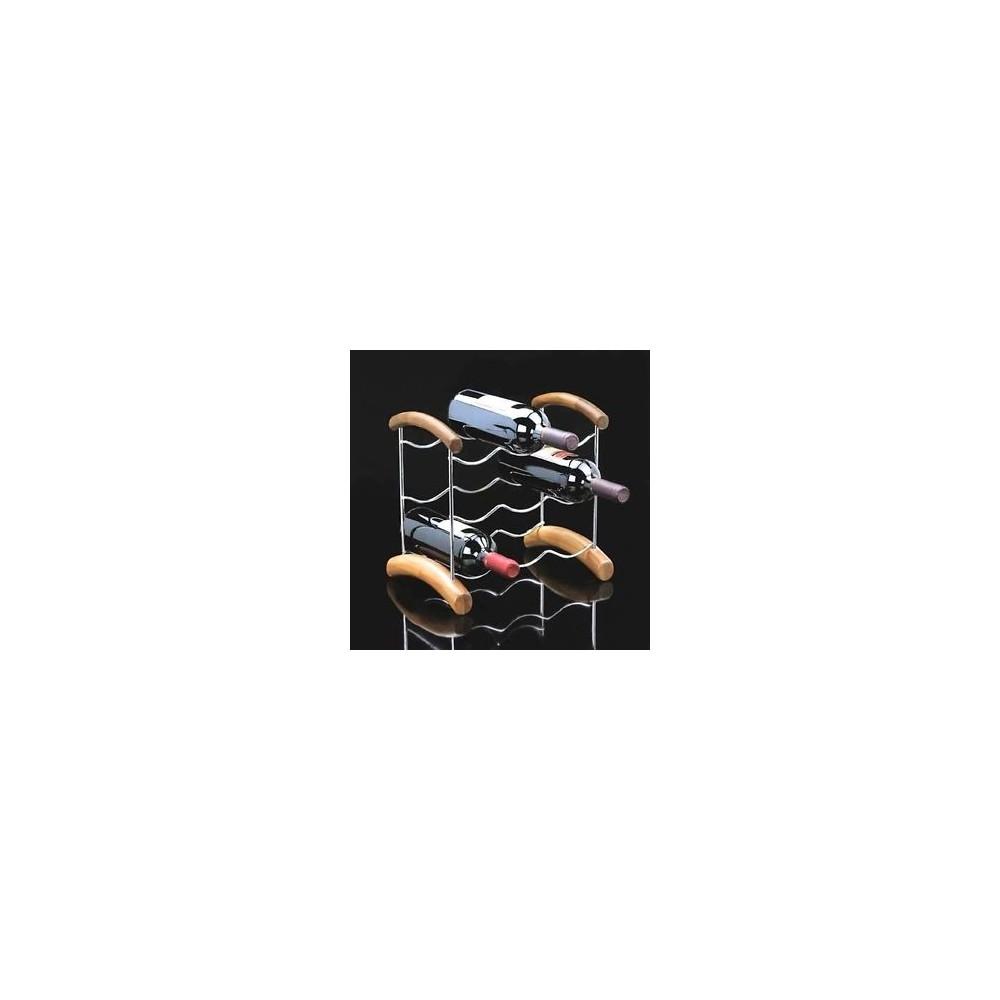 PORTA BOTTIGLIE LEGNO-INOX SP650200